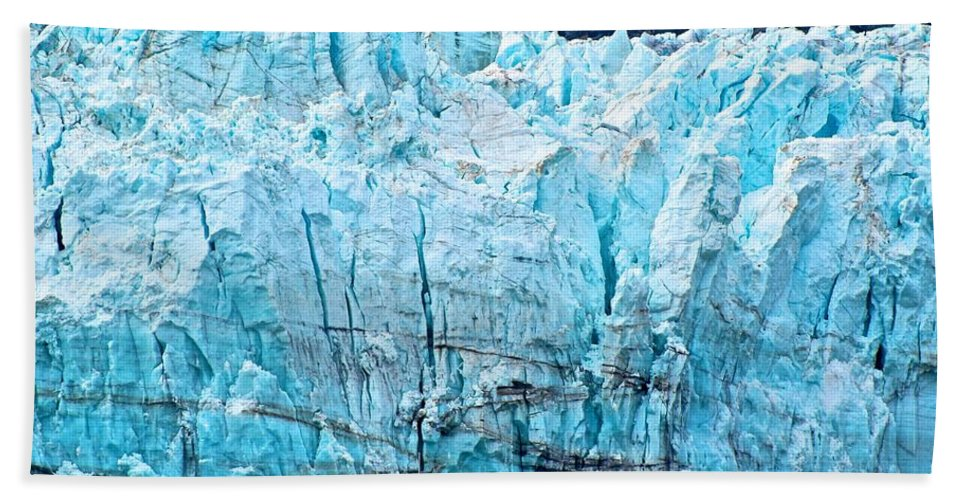 Glacier Bath Sheet featuring the photograph Closer Perspective by Eric Tressler