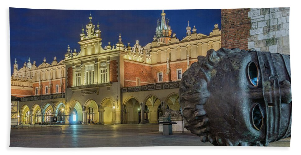 Bath Sheet featuring the photograph Cloth Hall by Brent Kaire
