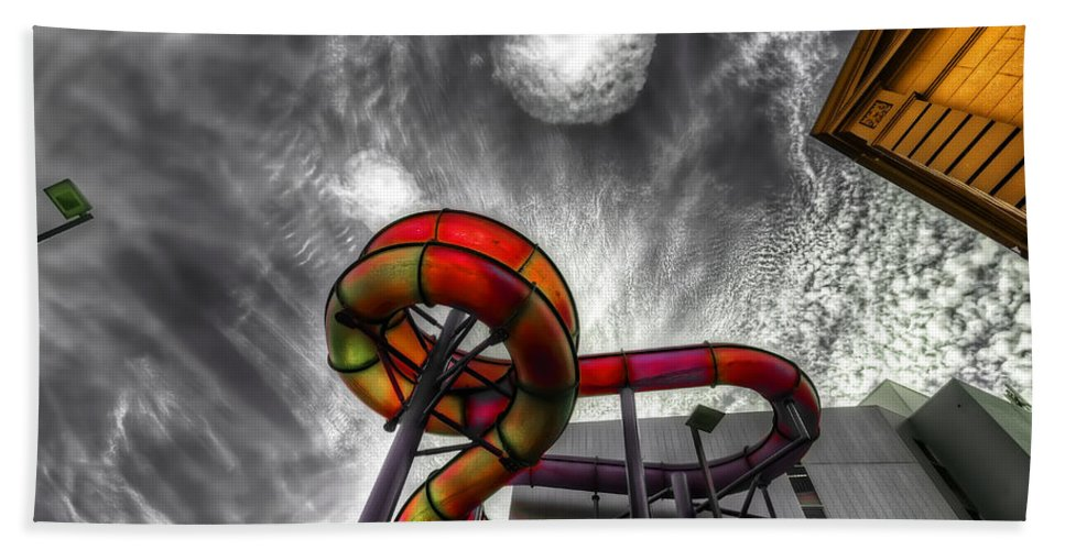 Amusement Hand Towel featuring the photograph Cloud 9a by Wayne Sherriff