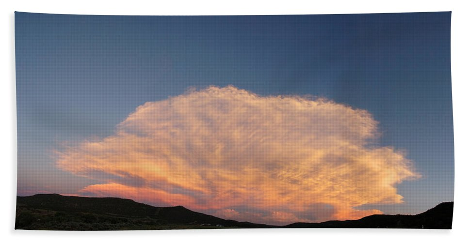 Cloud Bath Sheet featuring the photograph Cloud Afar by Jerry McElroy