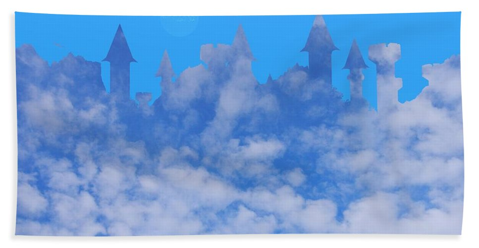 Castle Hand Towel featuring the photograph Cloud Castle by Mark Blauhoefer
