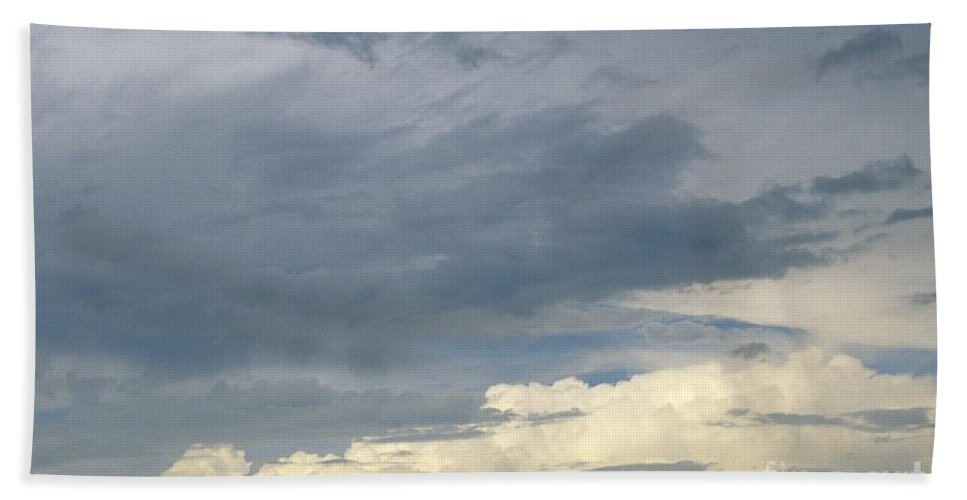 Storm Clouds Bath Towel featuring the photograph Cloud Cover by Erin Paul Donovan