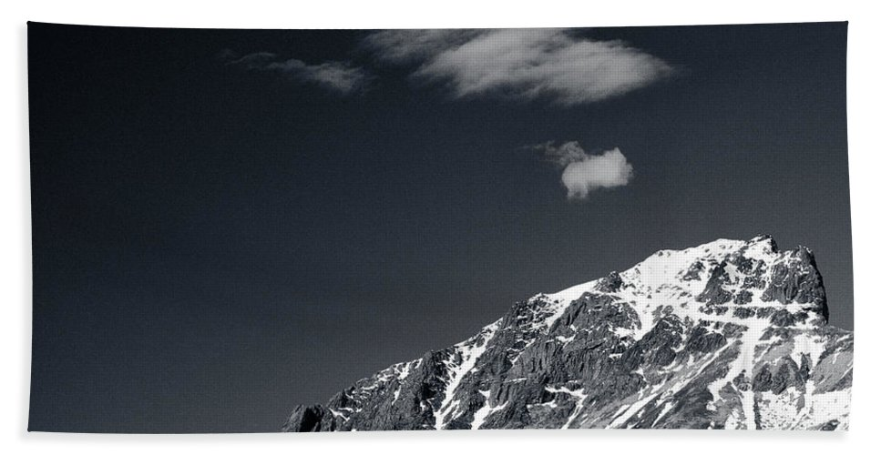 Mountains Bath Sheet featuring the photograph Cloud Formation by Dave Bowman