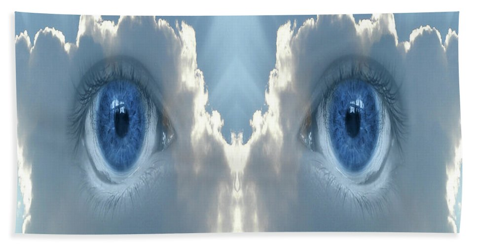 Cloud Bath Sheet featuring the digital art Cloud Mask by Neil Finnemore