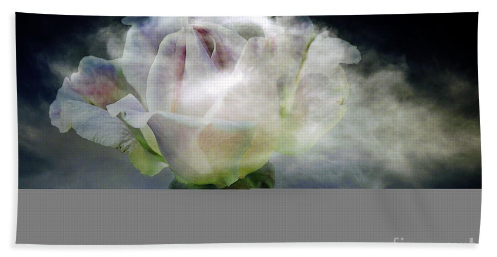 Clay Bath Sheet featuring the photograph Cloud Rose by Clayton Bruster