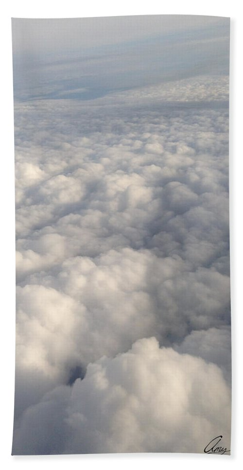 Clouds Hand Towel featuring the photograph Clouds by Amy Lionheart