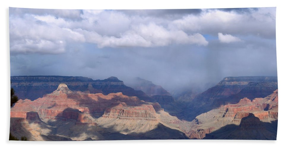 Pat Turner Bath Towel featuring the photograph Clouds Fill The Canyon by Pat Turner