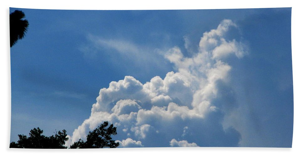 Patzer Hand Towel featuring the photograph Clouds Of Art by Greg Patzer