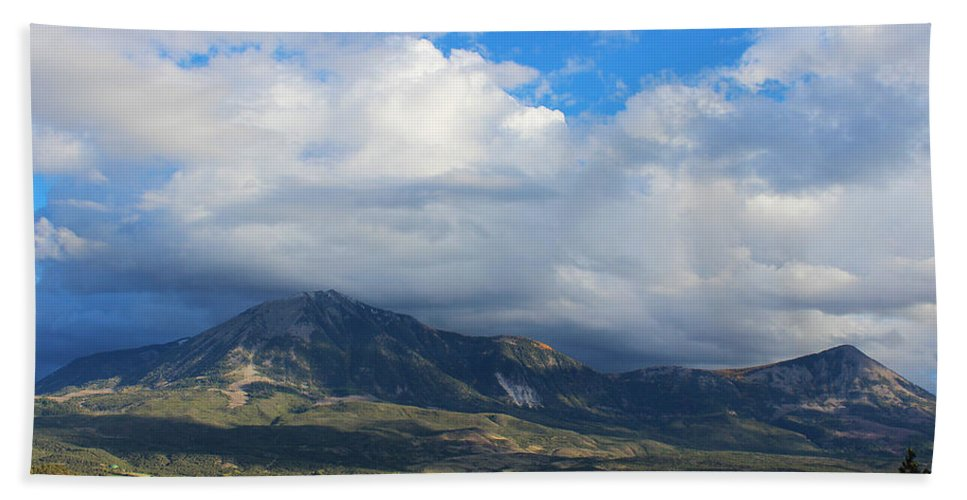 Lamborn Bath Sheet featuring the photograph Clouds Of Spring by Samantha Burrow