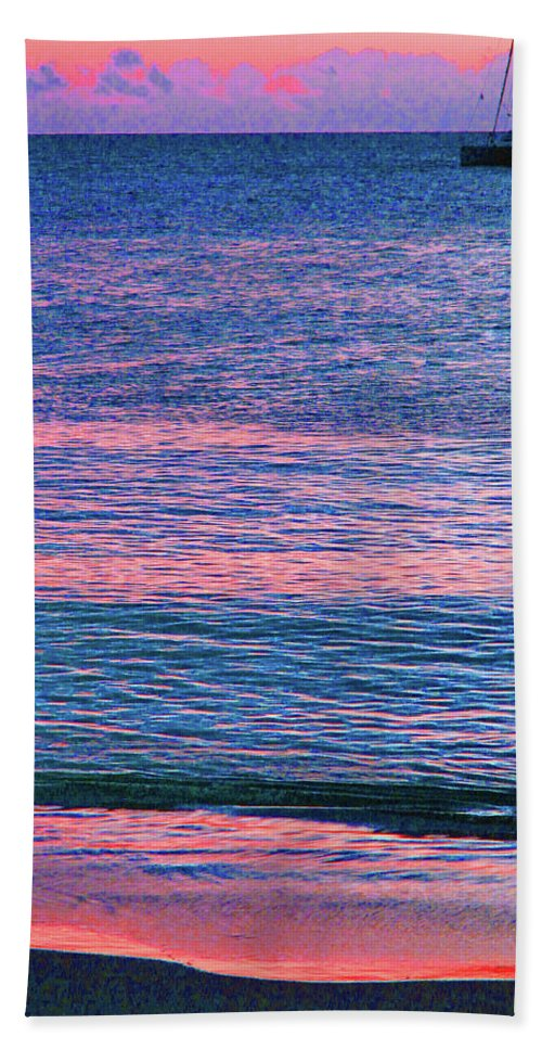 St Kitts Bath Sheet featuring the photograph Clouds On The Horizon by Ian MacDonald