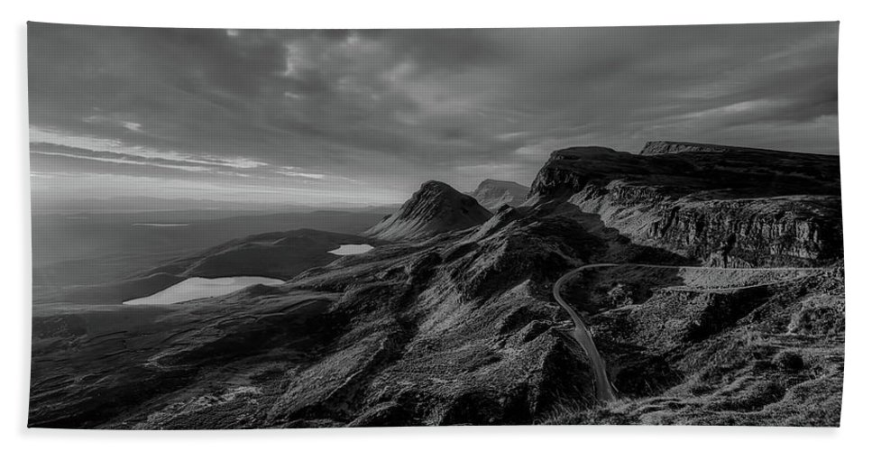 Isle Of Skye Hand Towel featuring the photograph Clouds Over The Isle Of Skye by Unsplash