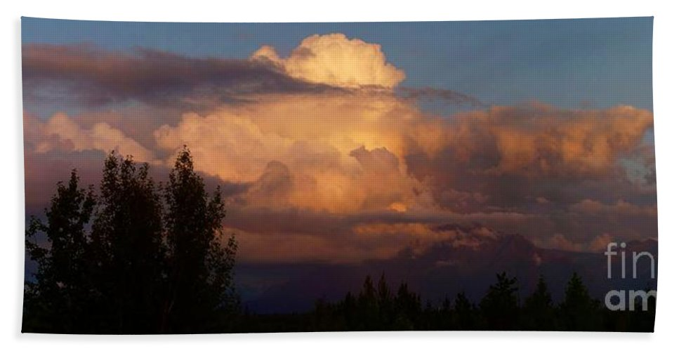 Clouds Bath Sheet featuring the photograph Clouds by Ron Bissett