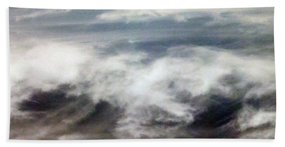 Cloud Hand Towel featuring the photograph Clouds Tides by Munir Alawi