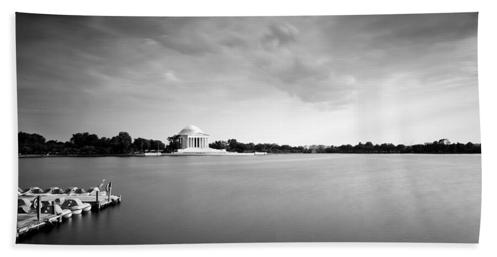 Clouds Hand Towel featuring the photograph cloudscape and the Tidal Basin by Edward Kreis