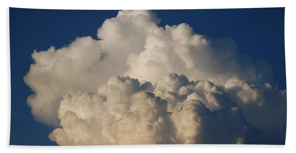 Clouds Hand Towel featuring the photograph Cloudy Day by Rob Hans