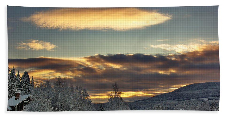 Winter Bath Sheet featuring the photograph Cloudy Mothership by MarianaEwa Asklof