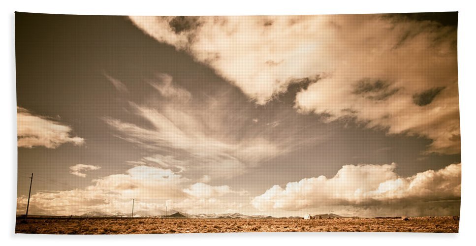 Storm Hand Towel featuring the photograph Cloudy Plain by Scott Sawyer