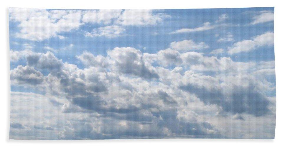 Clouds Bath Towel featuring the photograph Cloudy by Rhonda Barrett
