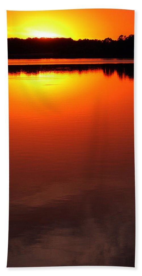 Clay Hand Towel featuring the photograph Cloudy Sunset by Clayton Bruster