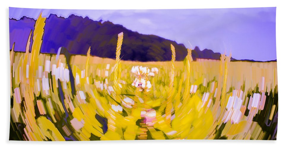 Abstract Hand Towel featuring the photograph Clover by Jeff Sebaugh