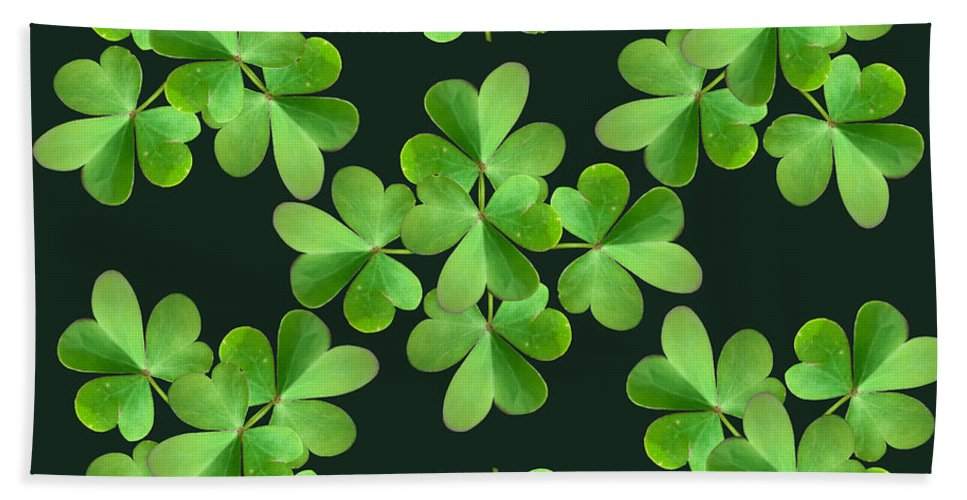 Leaf Clover Hand Towel featuring the photograph Clover Print by Bri Lou