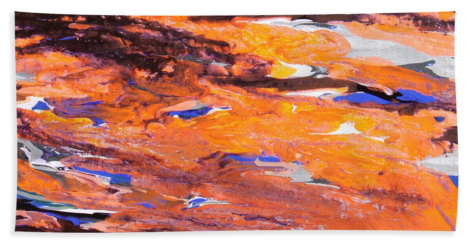 Fusionart Hand Towel featuring the painting Clownfish by Ralph White