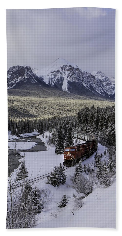 Bath Sheet featuring the photograph Cn On Morant's Curve by J and j Imagery