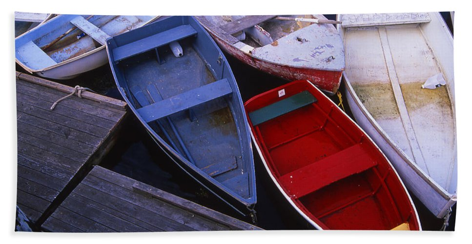 Landscape New England Boat Fishing Nautical Coast Bath Sheet featuring the photograph Cnrf0906 by Henry Butz