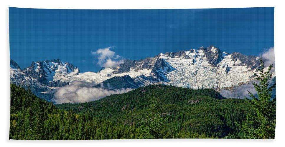 Coastal Mountains Bath Sheet featuring the photograph Coast Mountains by Jon Burch Photography