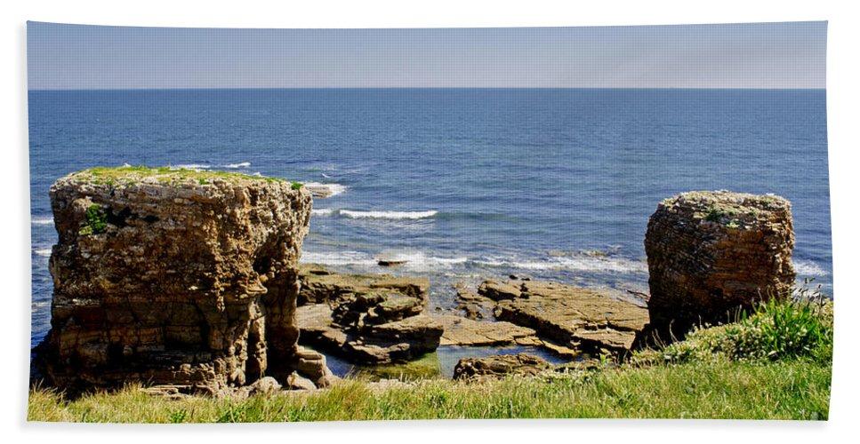 Coast Hand Towel featuring the photograph Coast. Seascape 1. by Elena Perelman