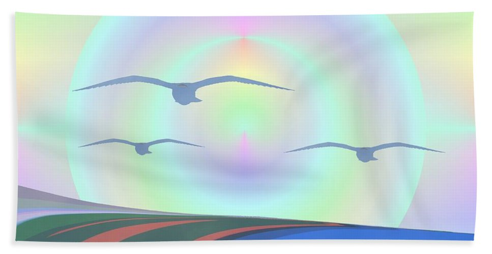 Coast Bath Sheet featuring the digital art Coastal Delight by Tim Allen