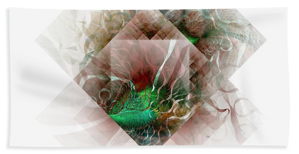 Digital Art Bath Sheet featuring the digital art Coastal Memoirs by Amanda Moore