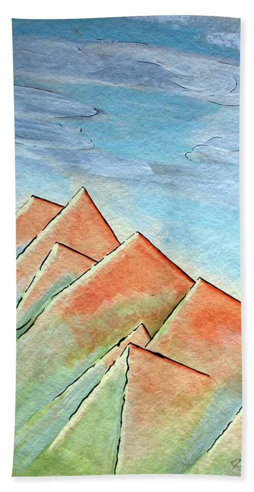 Painting Hand Towel featuring the painting Coastal Range by J R Seymour