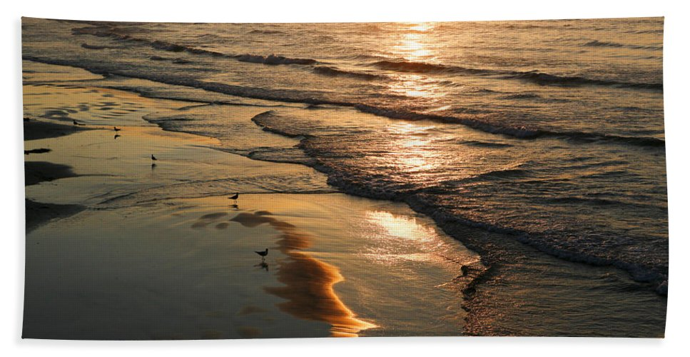 Beach Hand Towel featuring the photograph Coastal Sunrise by Marilyn Hunt