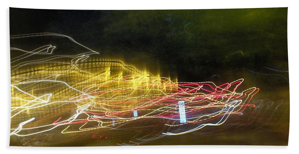 Photograph Hand Towel featuring the photograph Coaster Of Lights by Thomas Valentine