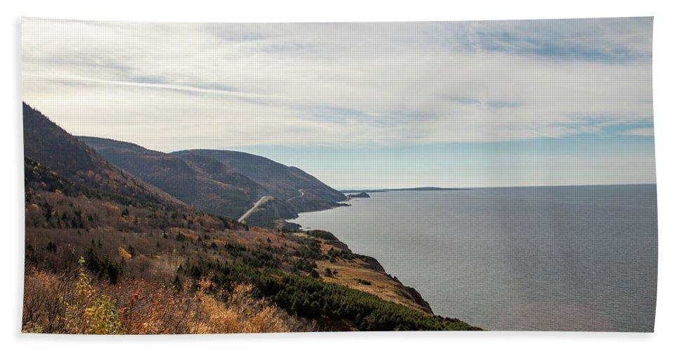 Autumn Bath Sheet featuring the photograph Coastline At Cape Breton Highlands National Park, Nova Scotia, C by Karen Foley