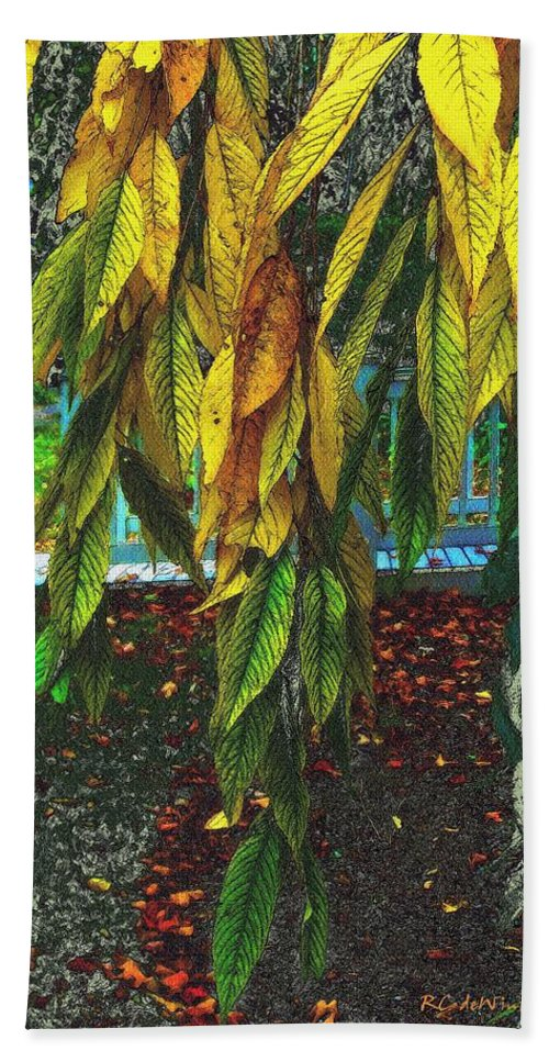 Autumn Hand Towel featuring the painting Coat Of Many Colors by RC DeWinter