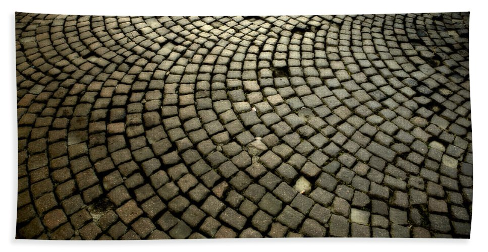 Street Hand Towel featuring the photograph Cobblestone by Marilyn Hunt