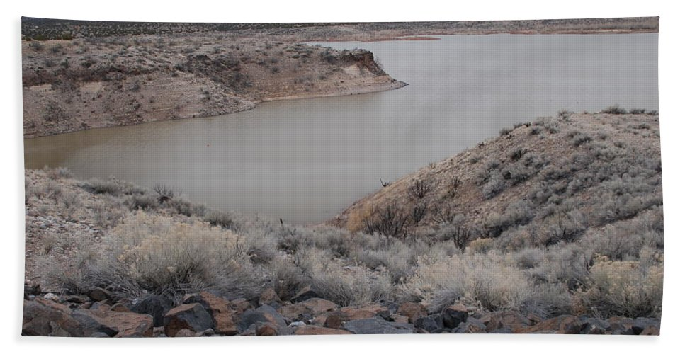 Mountians Bath Sheet featuring the photograph Cochiti Lake by Rob Hans