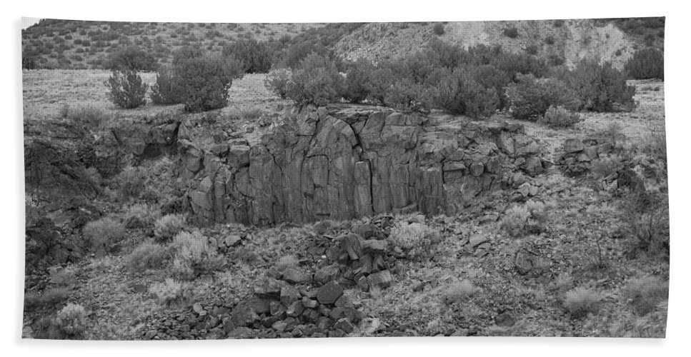 Rocks Hand Towel featuring the photograph Cochiti Rocks by Rob Hans