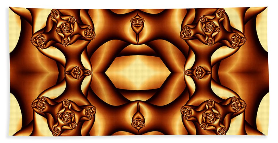 Clay Hand Towel featuring the digital art Cocoa Fractal Roses by Clayton Bruster