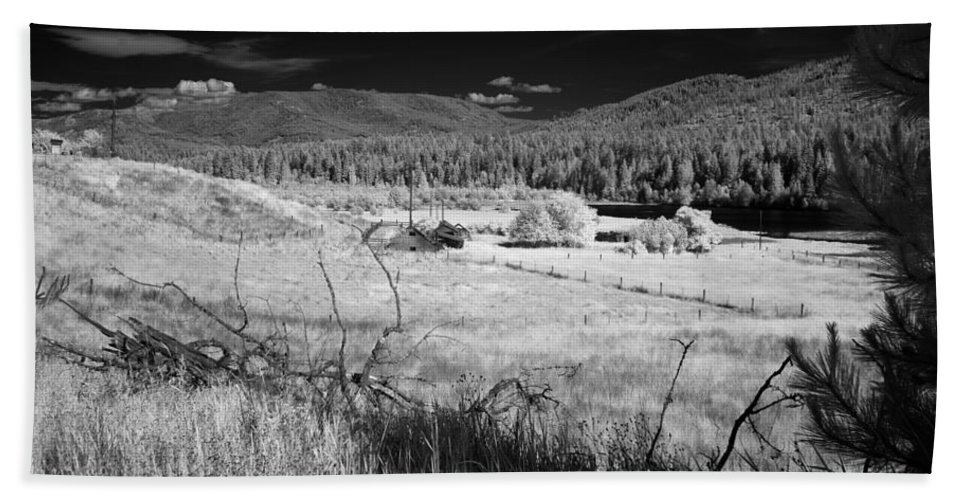 B&w Hand Towel featuring the photograph Cocolala Creek 2 by Lee Santa