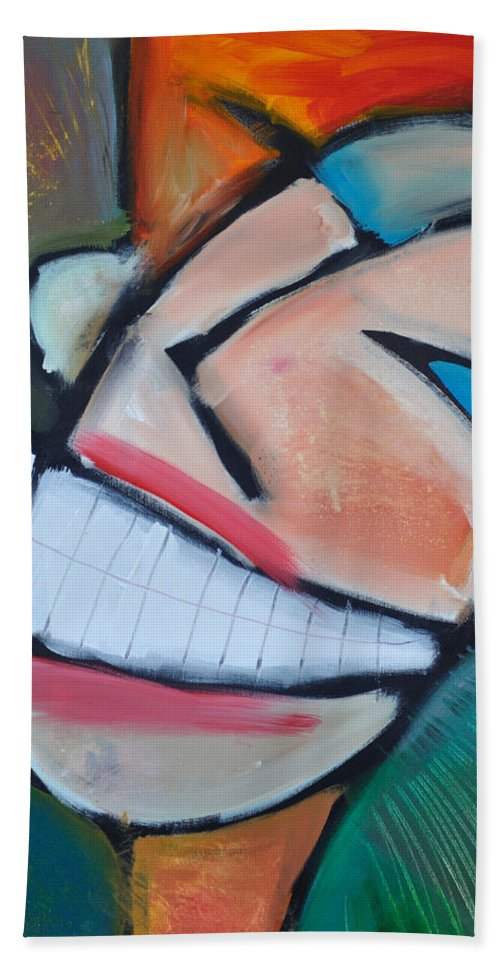 Smile Bath Towel featuring the painting Coconut Bread by Tim Nyberg
