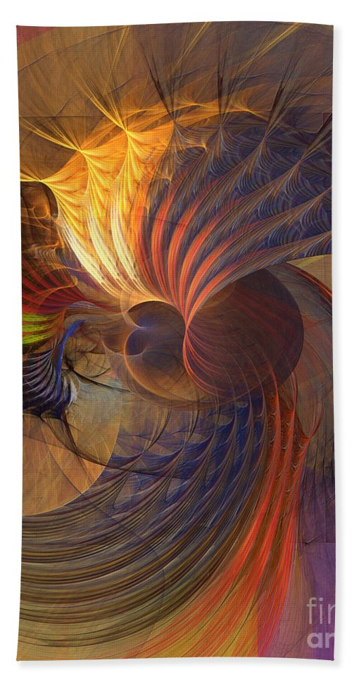 Code Of Justice Hand Towel featuring the digital art Code Of Justice by John Beck