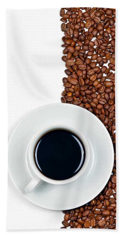 Aroma Hand Towel featuring the photograph Coffee by Gert Lavsen
