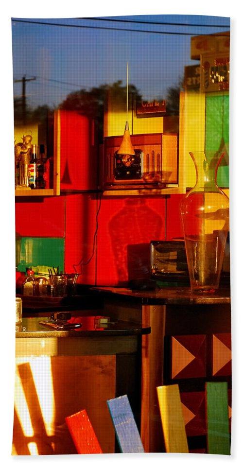 Skip Hunt Bath Towel featuring the photograph Coffee Shop by Skip Hunt