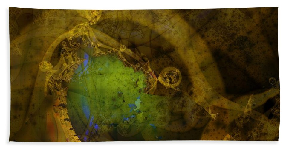 Fractal Image Bath Towel featuring the digital art Coiled by Ron Bissett