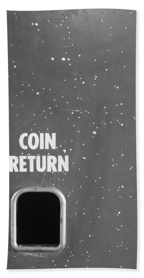 Coin Hand Towel featuring the photograph Coin Return by Lauri Novak