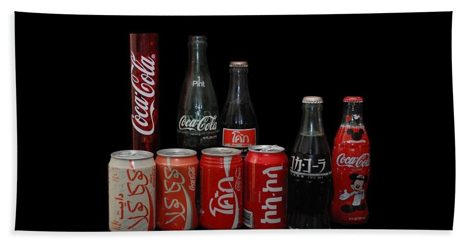 Coca Cola Bath Towel featuring the photograph Coke From Around The World by Rob Hans