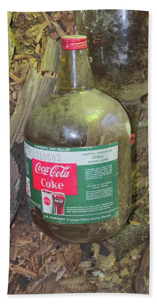 Abandoned Hand Towel featuring the photograph Coke Syrup by Timothy Ruf